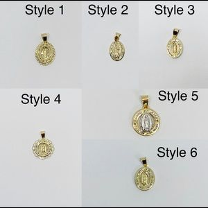 Jewelry - 10K Solid Gold Tiny Virgin Mary Charm Pendantwith